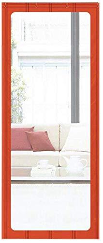 SLM-max Türvorhang, Winter Gewerbe Warm Baumwolle Vorhang, Geeignet für/Supermärkte, mit einem PVC-Material großen Hellen Fenstern,Rot,100×220cm