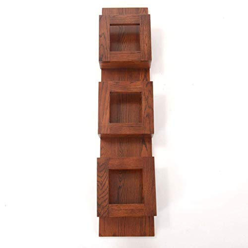 DHTOMC Bookcase shelf Bookshelf Rustic Wooden 3-Tiers Wall Floating Shelf Unit Wall Mounted Shelving Hanging Storage Bookcase Bookshelf Display (Color : B) Xping (Color : B)