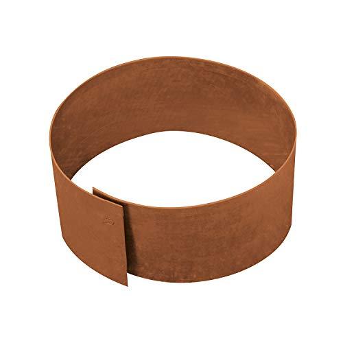 bellissa Rasenkante Kreis Ø40 cm H 13 cm corten - Cortenstahl - rund - Mit patentierter Verbindungstechnik