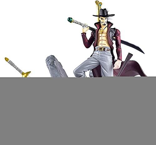 MDCGOK One Piece 15cm Dracule Teatro Versione Mihawk Top decisive Azione di combattimento figure anime Azione Figurina Collezione Decorazioni - Regalo per bambini