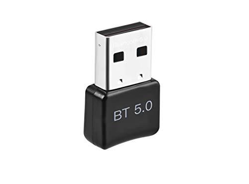 MARTINUS YANG Bluetooth Adapter 5.0 USB Unterstützt Windows 10 / 8.1 / 8/7 für PC Computer Desktop Laptop Notebook Maus Kopfhörer Tastatur Lautsprecher Drucker. Sender und Empfänger in 20M