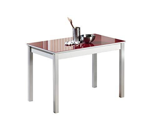 ASTIMESA Mesa de Cocina Fija Rojo 110x70 cms