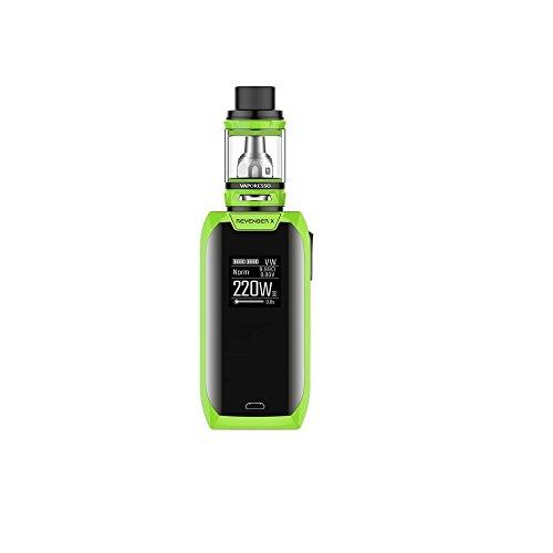 Vaporesso Revenger X e-Cigarette (Verde) Kit 220w con NRG Mini Tanque 2ml, Este producto no contiene nicotina ni tabaco