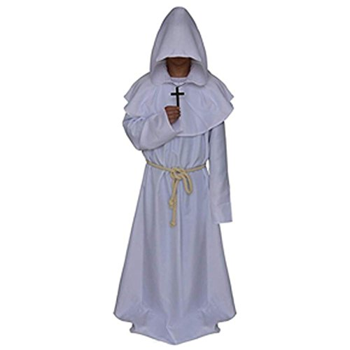 Mönch Kostüm, Mittelalter Renaissance Mönch Kostüm mit Kapuze Mönch Kostüm für Halloween Cosplay