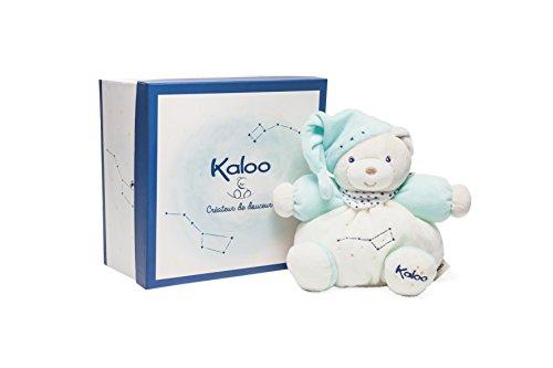 Kaloo - Colección Petite Etoile Osito Gordinflón de peluche fosforescente turquesa, 18 cm (K960294)