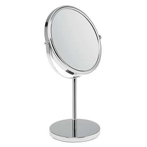 bremermann Standspiegel, Kosmetikspiegel, Schminkspiegel 1x / 5X Vergrößerung, stehend, 360° Rotation