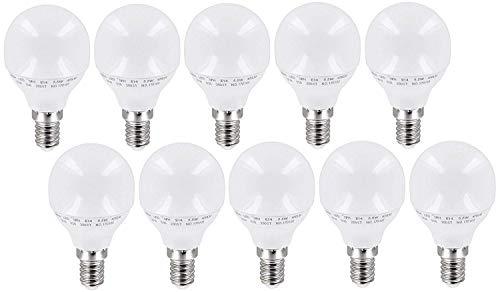 10-pack - LED-lampen mini lamp 5,5 W E14 P45 mat 200 ° - 470 lm - warm wit (3000 K) - flikkervrij IC-driver