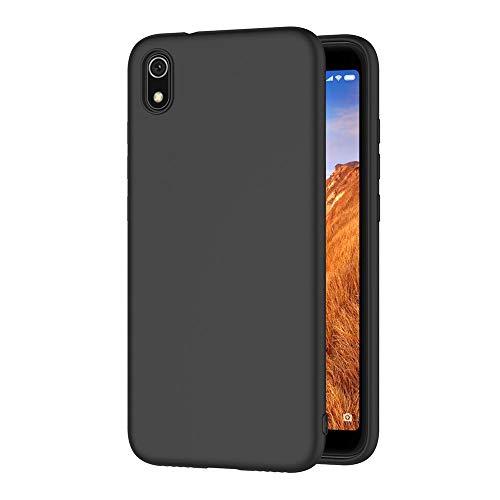 AICEK Compatible Xiaomi Redmi 7A Hülle, Schwarz Silikon Schutzhülle für Xiaomi Redmi 7A Hülle TPU Bumper Redmi 7A Handyhülle (5,45 Zoll)