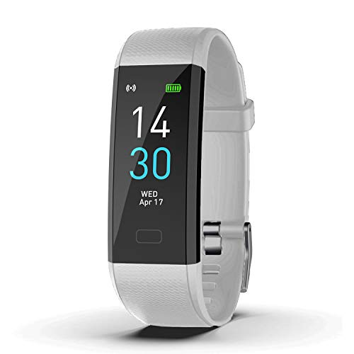KMV Fitness Tracker, IP68 Waterproof Activity Tracker,Fitness Tracker Activity Tracker with Heart Rate Sleep Temperature Monitor,Watches for Men,Fitness Watches for Women (White)