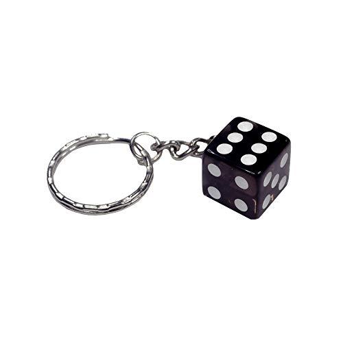 Würfel Schlüsselanhänger Transparent Glückswürfel Knobeln Glücksbringer Casino farbig Grau