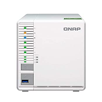 QNAP TS-332X 3-Bay 64-bit NAS with Built-in 10G Network Quad Core 1.7GHz 2GB RAM 1 X 10GbE  SFP+  2 X 1GbE 3 X 3.5/2.5  Drive Slots 3 X M.2 SATA 2280 Slots RAID 0/1/5