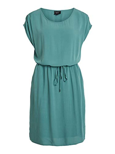 Object Damen Objbay Dallas S/S Dress Noos Kleid, Blue Spruce, 34 EU