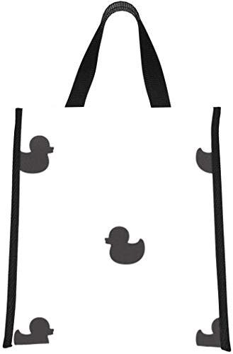 Bolsa de almuerzo Tote Duck Patito de goma Fiambreras para niñas Fun Lunchbag Reutilizable, plegable Mantiene la comida caliente / fría Para mujeres, hombres, escuela, oficina