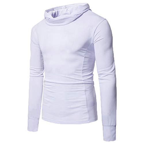 Mr.BaoLong&Miss.GO Otoño E Invierno Camiseta De Manga Larga para Hombre Suéter para Hombre Camiseta De Manga Larga con Capucha Camiseta Casual De Tamaño Europeo para Hombre Camiseta Básica