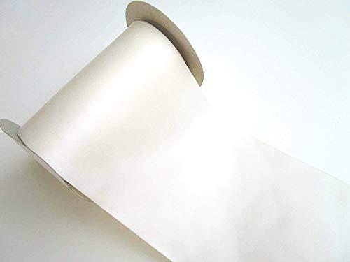 CaPiSo 10 m Satin-Schleifenband Geschenkband Breit Dekoband Dekoration in 10 cm Breite (Creme)