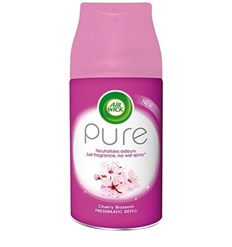 Airwick Pure Cherry Blossom, navullingen voor Freshmatic Max, verpakking van 6 stuks, 250 ml