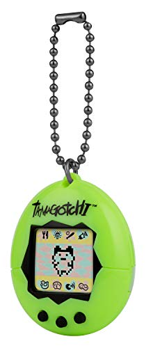 Tamagotchi 42869 Original Neon-Feed, Care, Nurture-Virtual Pet con Cadena para Jugar en Movimiento