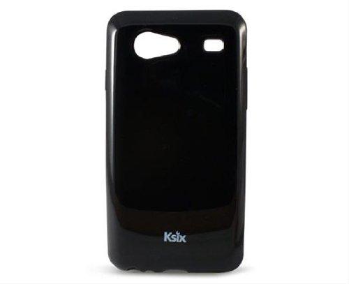 Ksix-Cover in TPU per Samsung Galaxy S Advance i9070, Colore: Nero