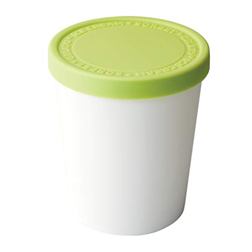 Tovolo Stackable Sweet Treat Ice Cream Tub With Tight-Fitting Silicone Lid, Freezer Storage Container for Sorbet & Gelato, BPA-Free & Dishwasher-Safe, Pistachio