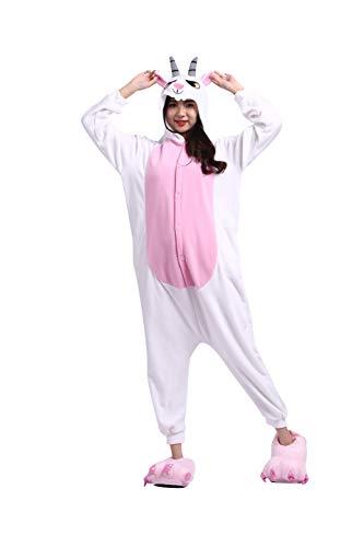 Pijamas Animal Disfraces Pijama Una Pieza Adulto Cosplay Anime Onesie Mujer Hombre Cabra