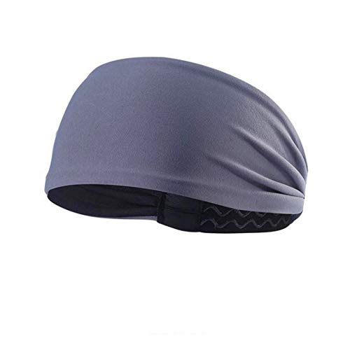 Cinta Pelo Headband Las Diademas Negro Diadema Diademas Bandas para el Pelo para Hombres Sudor Bandas elásticas para Las Mujeres Grey,1