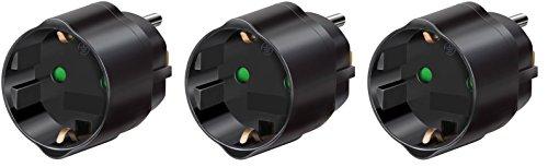 Steckdosenadapter für USA Steckdose und Euro Stecker) (3er Pack | Adapter USA)