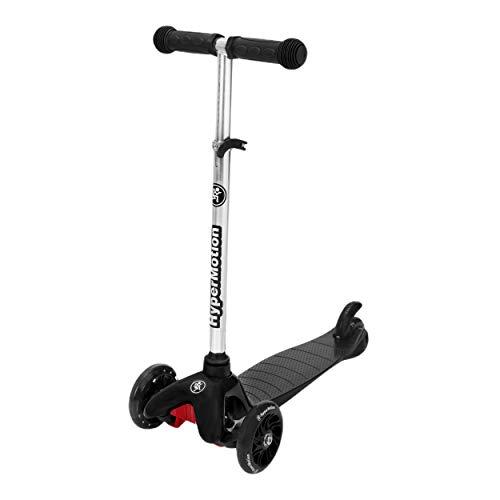 HyperMotion, Monopattino a tre ruote Balance per bambini 3-5 anni, con ruote a LED per ragazzi e ragazze, triciclo con manubrio regolabile in altezza per ragazzi e ragazze