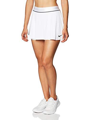 NIKE W Nkct Flouncy Skirt, Mujer, White/Black/Black/Black, M
