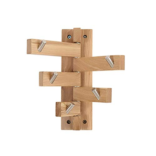 zyl Wall hanging shelves with 5 hooks folding entryway 20