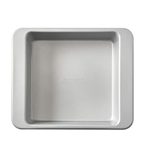 KitchenAid Quadratische Kuchenform aus aluminiertem Stahl, antihaftbeschichtet, 22,9 cm, silberfarben