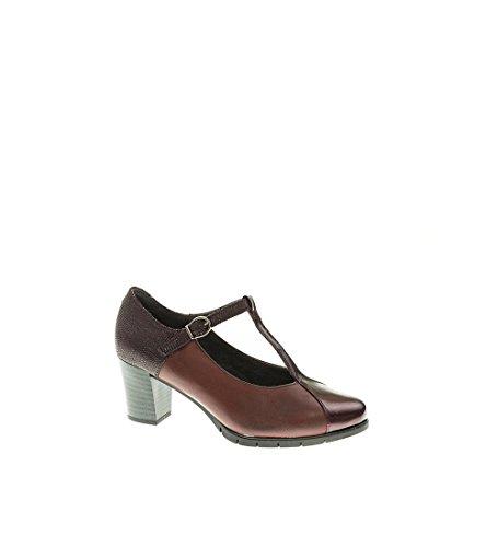 Zapato Tacon - Mujer - Burdeos - pitillos - 1276-40