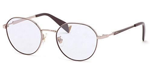 FURLA フルラ メガネフレーム VFU422J 0SBN 49サイズ フェミニン おしゃれ 軽量 軽い 丸メガネ