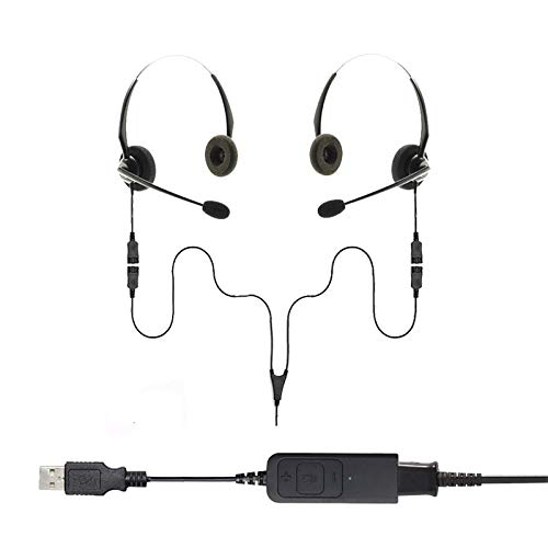 Project Telecom Binaural USB Training, Supervising and Coaching Headset Bundle 2 Users | Compatible With Acer Nitro