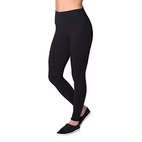 Alkato Damen Leggings mit Hohem Bund, Farbe: Schwarz, Größe: 36