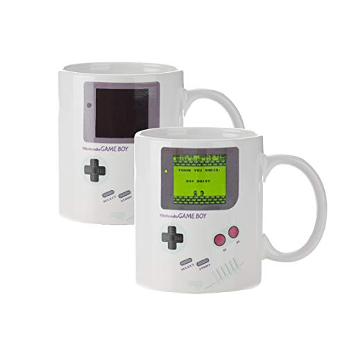 Nintendo Game Boy Thermoeffekt Tasse Super Mario 300ml Keramik weiß