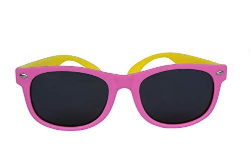 Gafas de sol polarizadas y flexibles para niñas de 4 a 10 años. Protección UV400 contra rayos UVA y UVB. Gafas de sol polarizadas infantiles