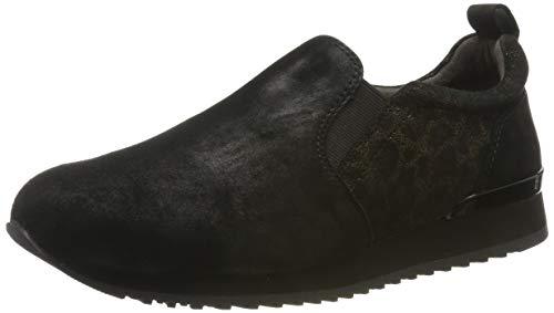 CAPRICE Damen Ginga Slip On Sneaker, Schwarz (Black Leo Comb 94), 41 EU