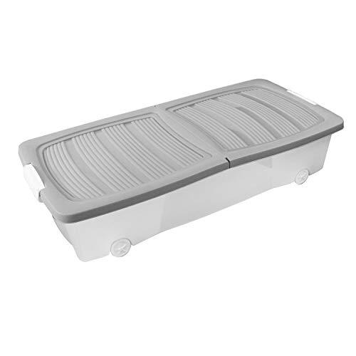 CLYZ Unterbett-Schublade, Kunststoff,...