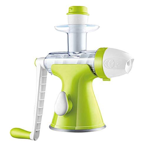 NBSY Exprimidor, exprimidor manual, licuadora de frutas. Exprimir lentamente el jugo sin destruir el contenido de nutrientes de la fruta, y también puede hacer helado.