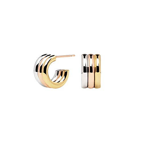 P D PAOLA - Pendientes PURE - Baño en Oro de 18k, Oro rosa de 18k y rodio en Plata - Joyas para Mujer
