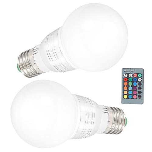 Bombilla E27 de bajo consumo de energía, bombilla LED remota, bombilla que cambia de color, sin radiación para la mina del dormitorio