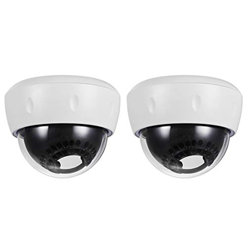 uxcell Dome Security Camera Housing Case Cover Mount Enclosure Replacement for Home Outdoor Indoor White 2pcs
