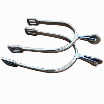 AMAIRS Sporen Für Stiefel, European Style Ritter Silber Edelstahl Sporen Zahnlose Flachrolle Spurs Knight Ausrüstung