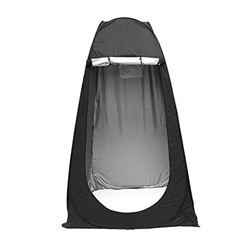 MINIKIMI Tragbares Outdoor-Sofort-Pop-Up-Zelt FüR PrivatsphäRe Camping Dusche, Toilettenzelt & Umkleidekabine 120X120X195Cm (Schwarz)