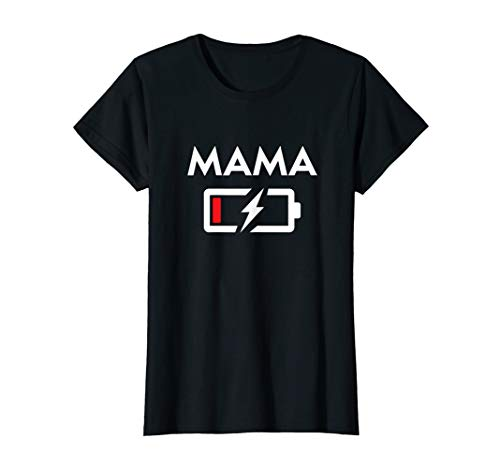 Damen Mutter & Kinder Mama Leere Batterie Muttertag Geschenk T-Shirt