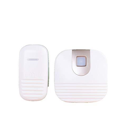 Draadloze deurbel, waterdichte muur Plug-in draadloze deurbel kit met 150m Range, geen batterijen nodig Best voor Plug-in Door Entry Bell,White