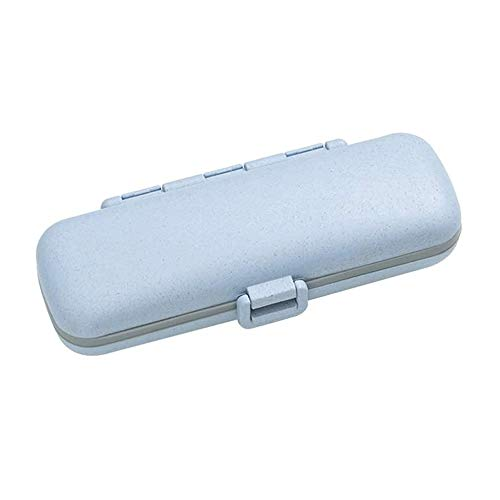 WCJ Wekelijkse Organisator van de Pil 7 Day Pill Box Case compartiment naar Hold vitaminen, levertraan, Supplementen en medicatie (Color : Blue)