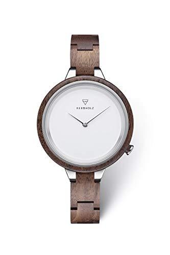 KERBHOLZ orologio in legno - Classics Collezione Hinze orologio analogico al quarzo, di alta gamma, da donna, con cassa e cinturino regolabile interam