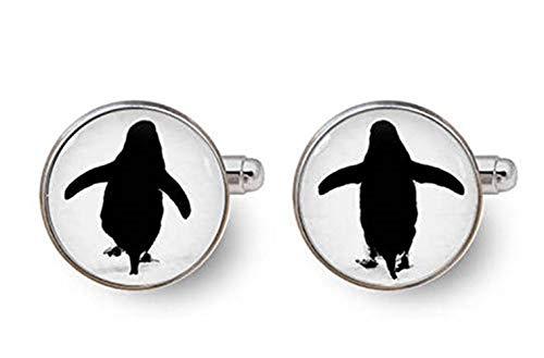 Pinguin-Manschettenknöpfe, Bräutigam Manschettenknöpfe, Glasornamente, Geschenke für ihn