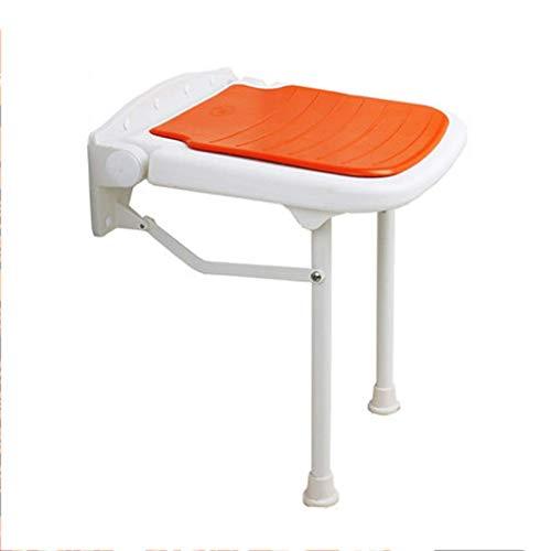 Home Shower Chair Bathtub Seat Folding Wall Mounted Drop Leaf Stool Adjustable Height Bath Stool Bath Seat Shower Chair Shower Stool Foldable Shower Gray